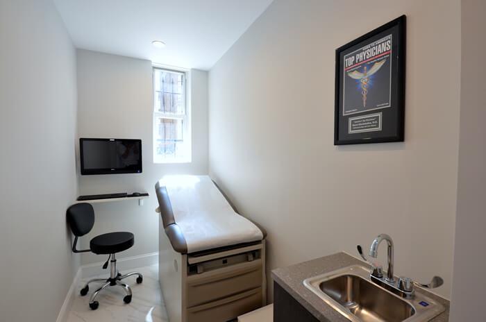 Upper East Side gynecologist room