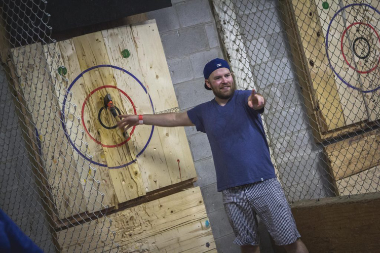 Ax throwing tournament North Carolina
