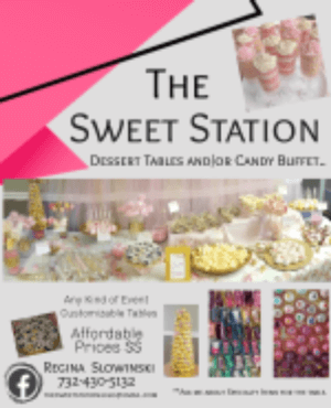 Sweet station for wedding and parties
