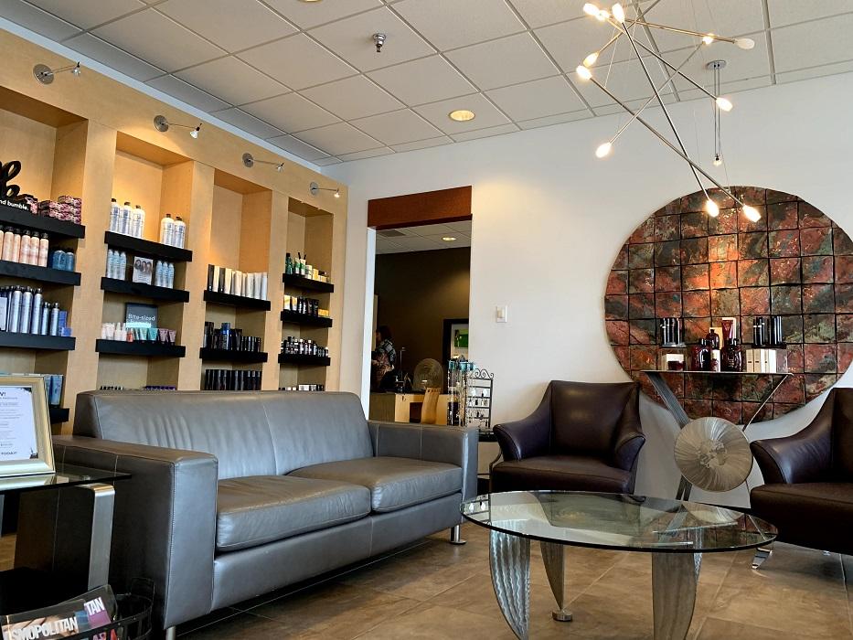 Waiting area at Hyde Park Cincinnati's best beauty salon Mitchell's Salon & Day Spa