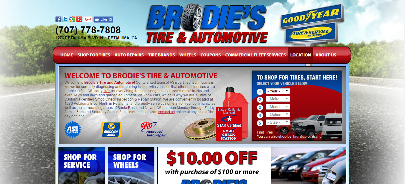 Brodies Tire and Automotive Petaluma