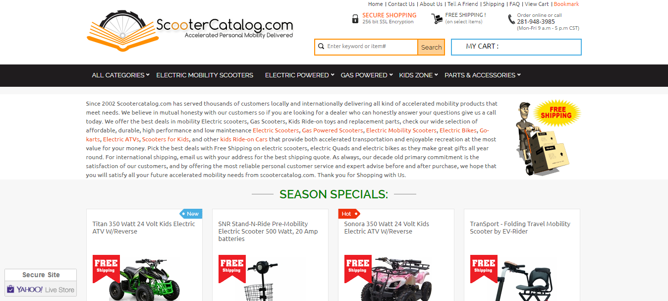 Scooter Catalog