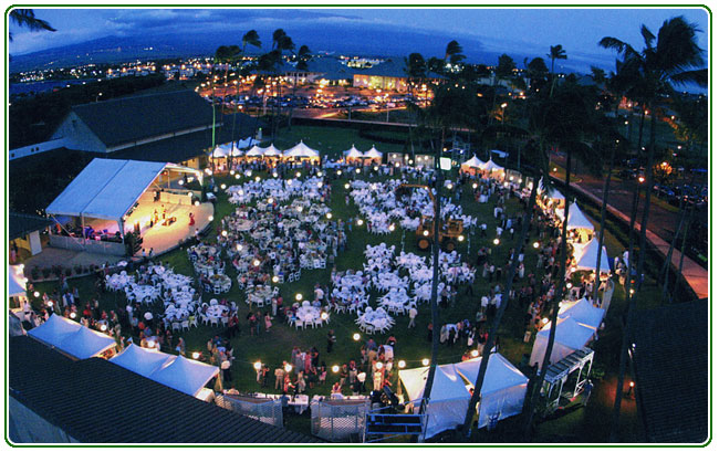 Maui Rents wedding lighting in Hawaii wedding rental directory