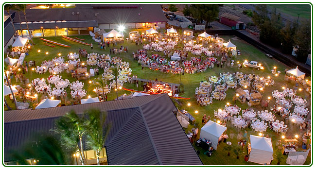 Maui Rents wedding lighting in Hawaii luau event rental directory