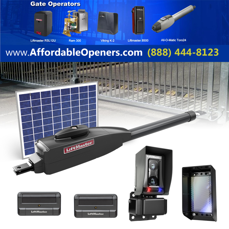Affordable Solar Gate Openers gate door openers California